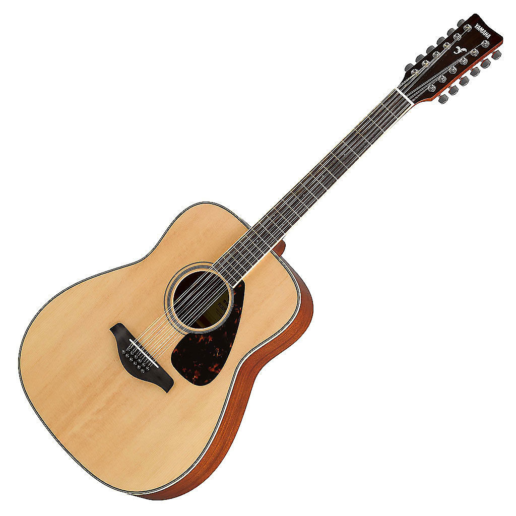 yamaha fg820 12 folk acoustic 12 string guitar natural reverb. Black Bedroom Furniture Sets. Home Design Ideas