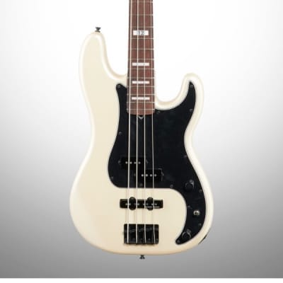 Fender Duff McKagan Deluxe Precision Electric Bass, Rosewood Fingerboard (with Gig Bag), White Pearl