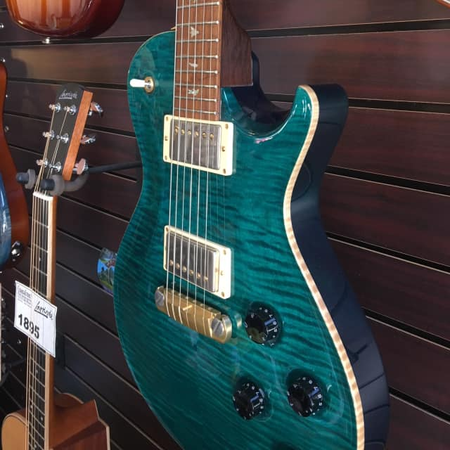 Paul Reed Smith PRS Brazilian Singlecut Solid Brazilian Neck Turquoise 1 of 250 image