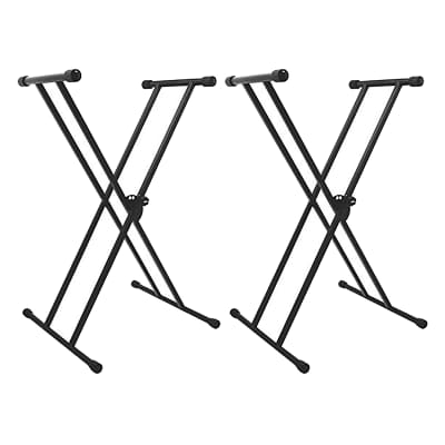 On-Stage Stands KS7191 Classic Double-X Keyboard Stand 2 Pack Bundle