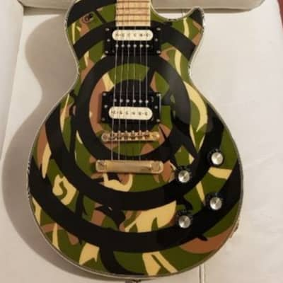Epiphone Zakk Wylde Les Paul Custom CAMO 2008 + Bare Nuckle Pickups for sale