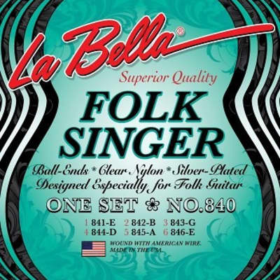 LaBella Folksinger Clear Nylon for sale