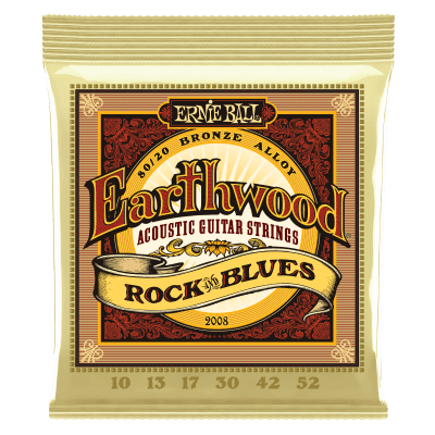 Ernie Ball 2008 80/20 Bronze Rock & Blues Acoustic Guitar Strings 10 - 52