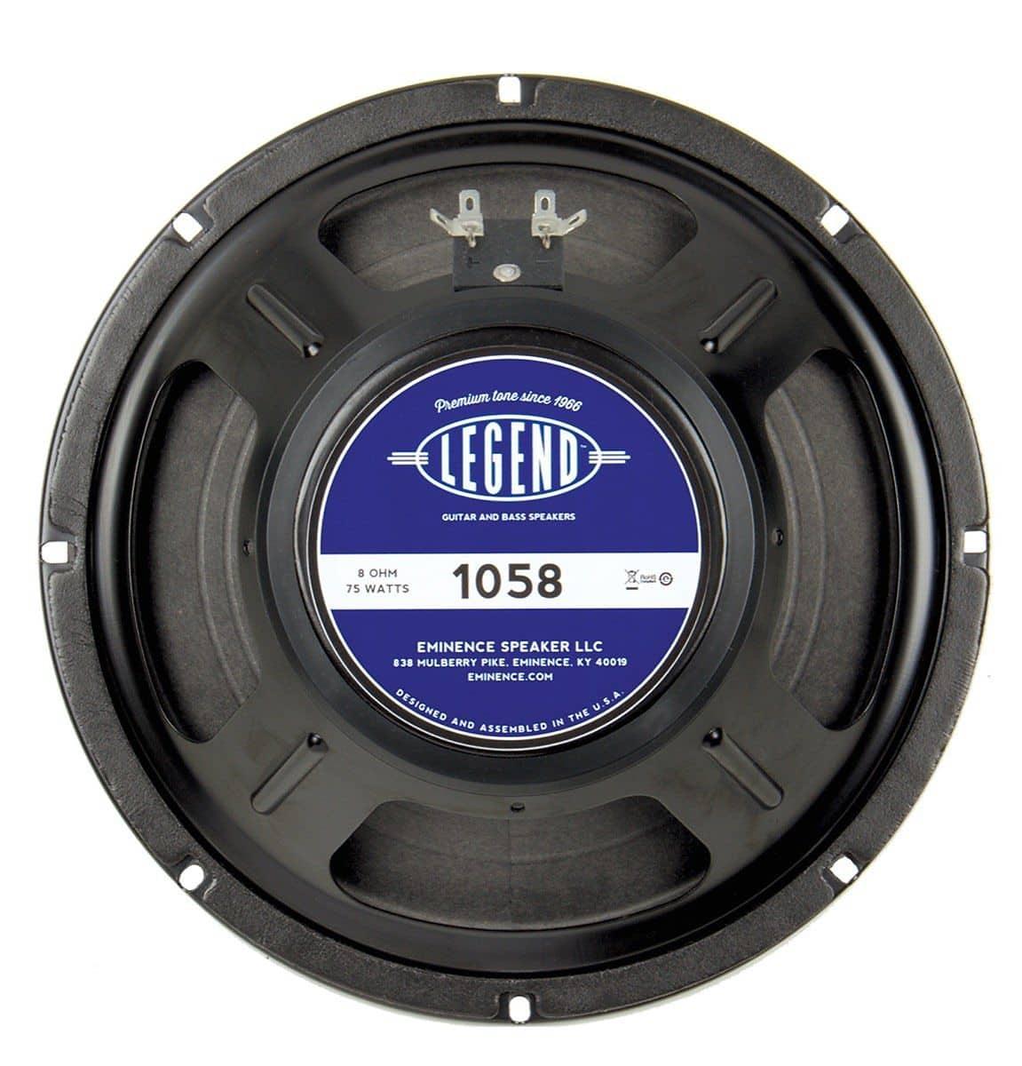 eminence legend 105 guitar speaker 10 inch 75 watts 8 reverb. Black Bedroom Furniture Sets. Home Design Ideas