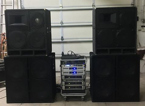 Turnkey System - Hood Industries tops w/ McCauley and JBL, quad 15 soudtech  subs, all amplification