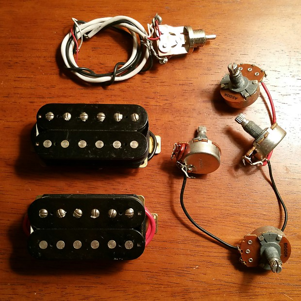 Epiphone Hot Output 650R/700T Humbucker Open Coil Pickups w/ Pots and Switch