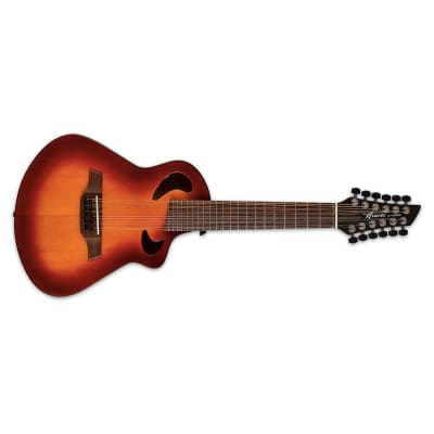 Avante by Veillette Gryphon Tobacco Burst Acoustic-Electric Short Scale 12-String Guitar + Case for sale