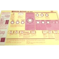 RE-201 Replacement English Lid Instructions Card Roland Space Echo