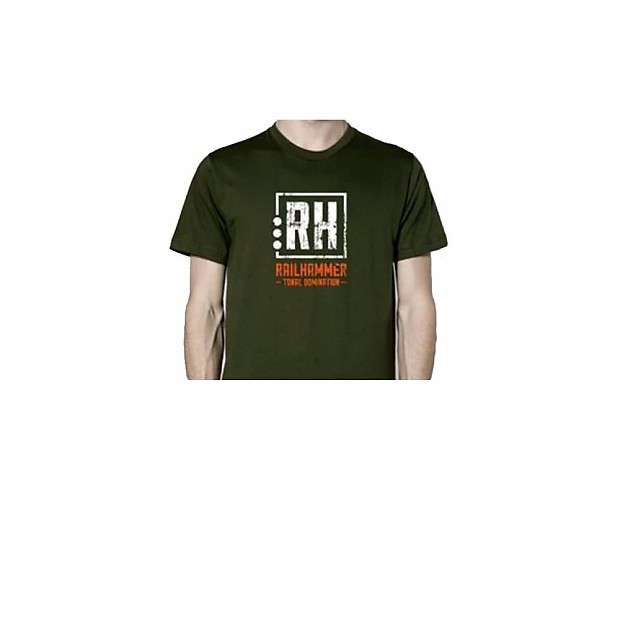 Railhammer t shirt army green xl reverb for Good looking records t shirt