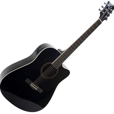Jay Turser Acoustic Electric Guitar 6 String Cut Away JTA524DCE 2021 Black NEW for sale