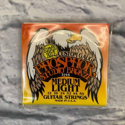 Ernie Ball Custom Gauge Phosphor Studio Bronze Medium Light 12-54 Acoustic Guitar Strings