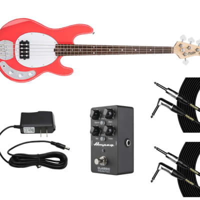 Sterling by Music Man StingRay Fiesta Red + Ampeg DI + Power Supply + Cables for sale