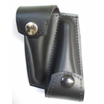 Torpedo Double Leather Trumpet Mouthpiece Pouch Black
