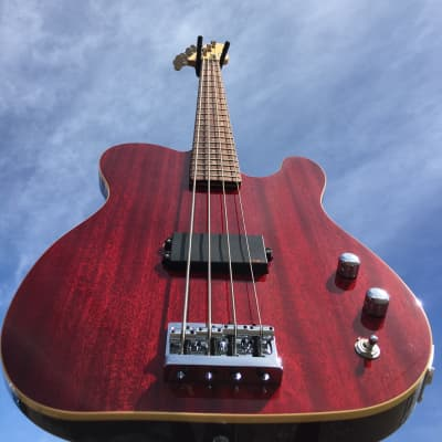 Schecter USA Custom Shop Baron Bass Trans Red 4-String Electric Bass Guitar for sale