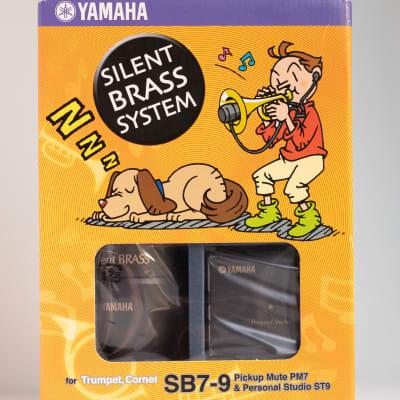 Yamaha Silent Brass system - SB7-9 Trumpet/Cornet Pickup Mute PM7 & Personal Studio ST9 Black Matte