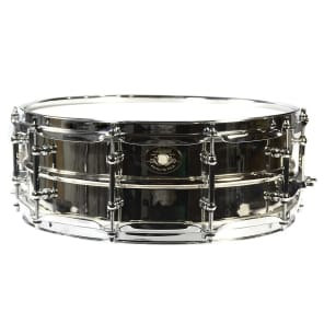 """Ludwig LB454AKS 1930 """"Standard"""" Reissue 5x14"""" Nickel-Plated Brass Snare with Nickel Hardware"""