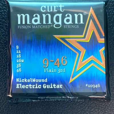 Curt Mangan 10946 Fusion Matched Nickel Wound Electric Guitar Strings (09-46)