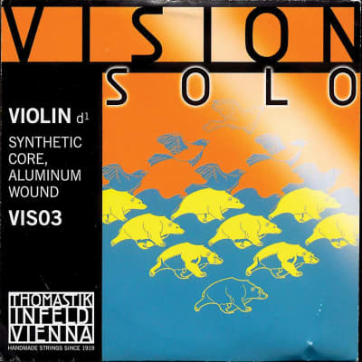 Thomastik Thomastik Vision Solo 4/4 Violin D String - Medium Gauge - Aluminum Wound Synthetic Core