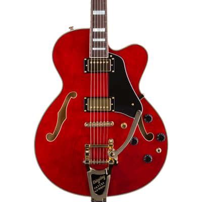 Prestige Musician Pro TR Trans Red Electric Guitar w/ Bigsby B7 & Seymour Duncan Humbuckers