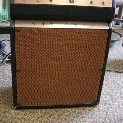 National National Model 22 Guitar Amplifier 1967 Copper On Copper Combo Amp Supro Valco ~1960's for sale