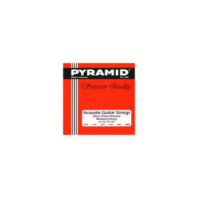 Pyramid Acoustic Guitar Strings Silver Plated Round Wound Medium-Heavy 11-50
