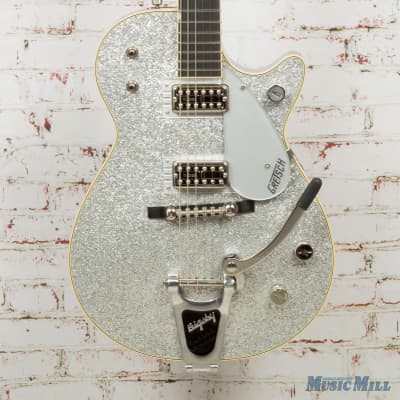 Gretsch G6129t-59 Vintage Select '59 Silver Jet Electric Guitar With Bigsby, 22 Frets,