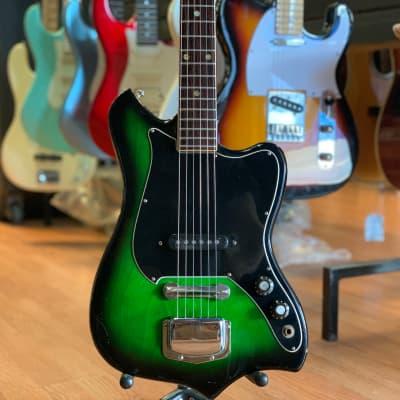Sekova oddball wacky bodied guitar in fabulous green burst! for sale