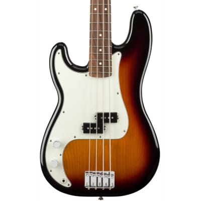 Fender Player Precision Bass Left-Handed, Pau Ferro Fingerboard, 3-Color Sunburst