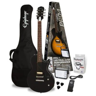 Epiphone PRO-1 Les Paul Jr. Performance Pack - Ebony for sale