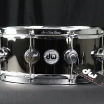DW 5.5x14 Black Nickel Over Brass Collector's Series Snare Drum image