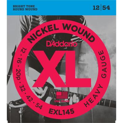 D'Addario EXL145 Nickel Wound Electric Guitar Strings, Heavy Gauge with Plain Steel 3rd
