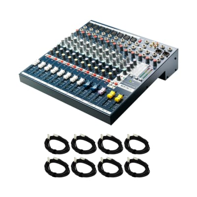 Soundcraft EFX8 Mixing Console Bundle with 8 20-foot XLR Cables