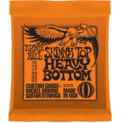Ernie Ball 2215 Skinny Top Heavy Bottom 10-52 Electric Strings