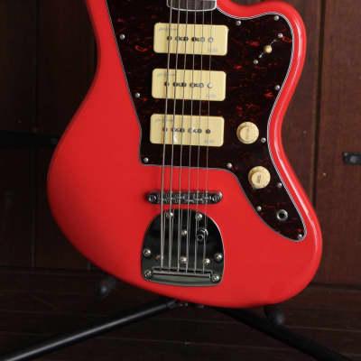Revelation RJT-60B Bass VI Solid Body Bass Guitar Fiesta Red for sale