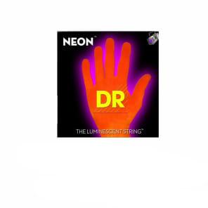 DR Strings NEON HiDef Orange SuperStrings Light Electric Guitar Strings for sale