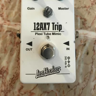 Lee Hooker 12AX7 Trip Guitar Effects Pedal white for sale
