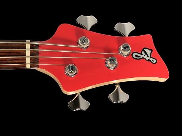 2018 F Bass VF4 PJ 4 String Bass w Rosewood Fretboard & Active EQ ~ Fiesta Red Gloss