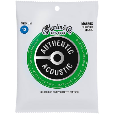 Martin  MA550S Authentic Acoustic Marquis Phosphor Bronze Acoustic Guitar Strings, Medium (13-56)