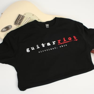 Guitar Riot T-Shirt Black Size: Small S