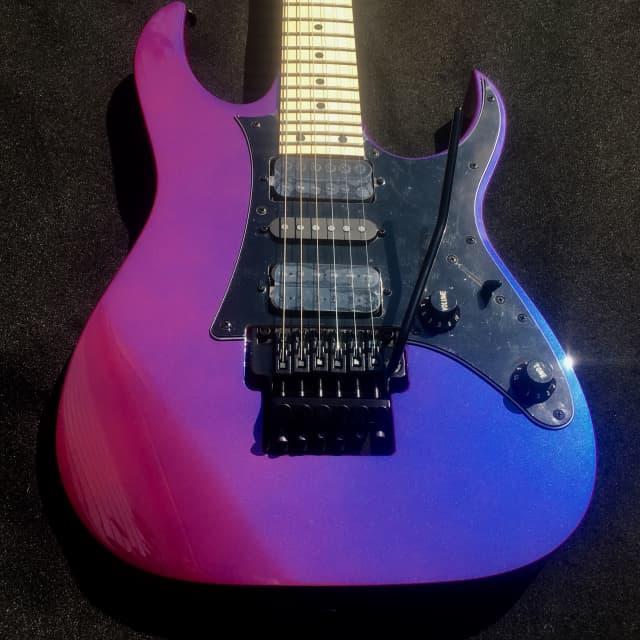 Ibanez Genesis RG550 PN  Purple Neon Iridescent Electric Guitar & Gig Bag Demo Video Inside! image