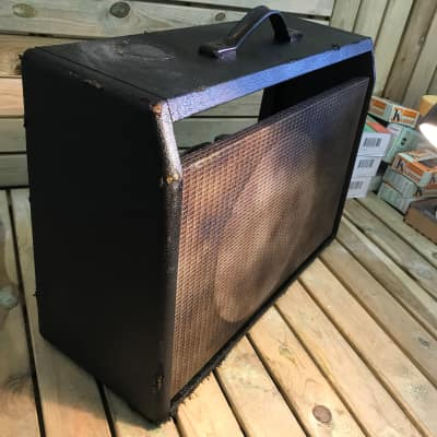 General  Deluxe reverb combo  1963 Black heavy aged and smoked in rock clubs