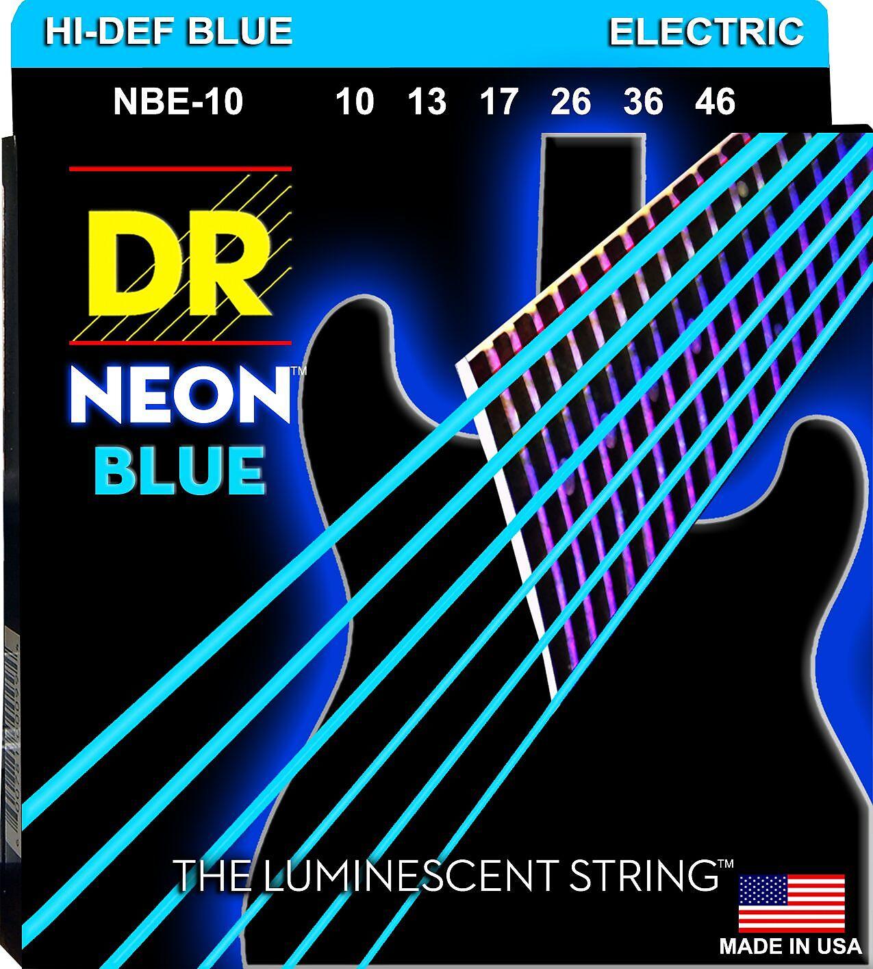 DR Strings Guitar Strings 3 Pack Electric Neon Yellow 10-46 Medium