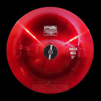 "Paiste 2002 Mega Bell 10"" Red Color Sound CUSTOM ORDER image"