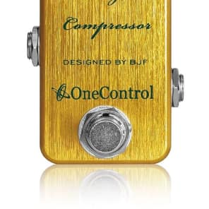 One Control BJF Designed Lemon Yellow Compressor pedal for sale