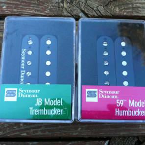 Seymour Duncan TB-4 JB Trembucker Bridge & Sh-1 59 Model Neck Humbucker BLACK