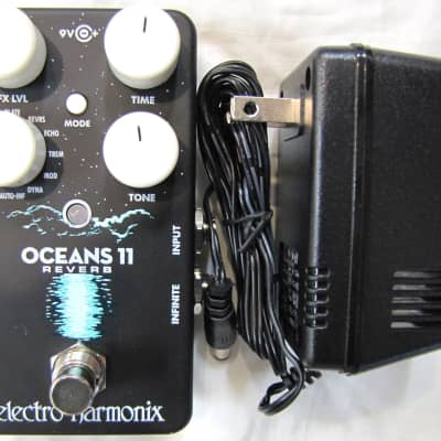 Electro-Harmonix EHX Oceans 11 Reverb Guitar Effects Pedal