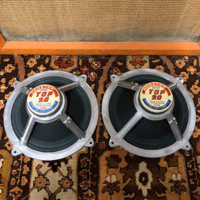 "Vintage 1960s Adastra Top 20 Matched Pair 12"" Bass Guitar Speaker Drivers 15ohms"