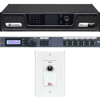Crown CDI4300 CDI 4 x 300 Watt 70V Commercial Amplifier+Processor+Wall Control