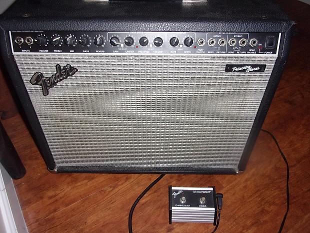 Fender Princeton Chorus combo amp + foot pedal Two 10
