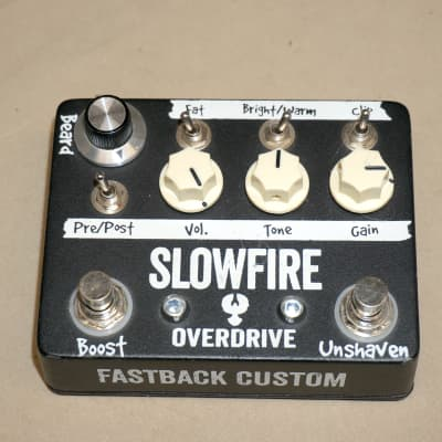 Fastback Custom Effects Slowfire Overdrive Pedal Black for sale